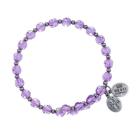 6mm bead bracelet 6mm violet with spacer bead wrap bracelet wind