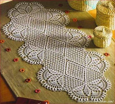 camino de mesa a crochet delicadezas en crochet gabriela camino de mesa en crochet