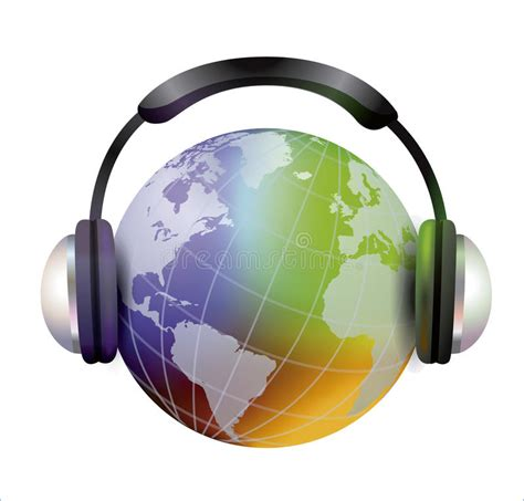 wereldmuziek stock illustratie illustratie bestaande uit