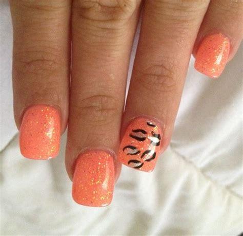 orange pattern nails 18 pretty orange nail designs pretty designs