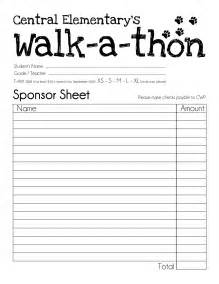walkathon registration form template sponsor card template 28 images central wildcat pride