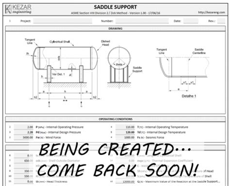 swing form exle swing bolt design spreadsheet kezar engineering