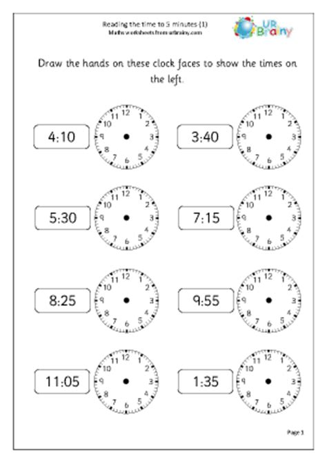clock worksheets year 2 minute maths worksheets 3rd archives math fireworksread