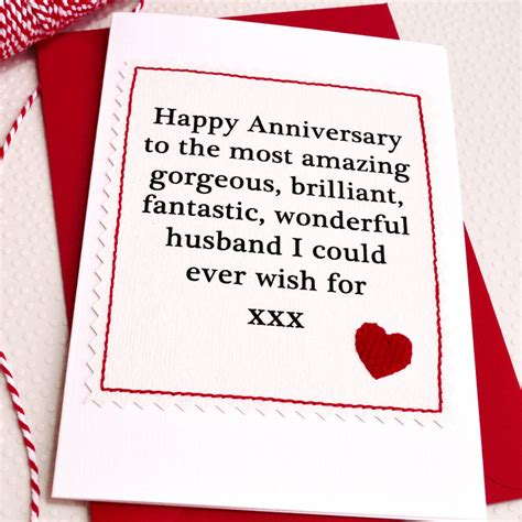 Handmade Anniversary Cards For Husband - husband boyfriend handmade anniversary card by
