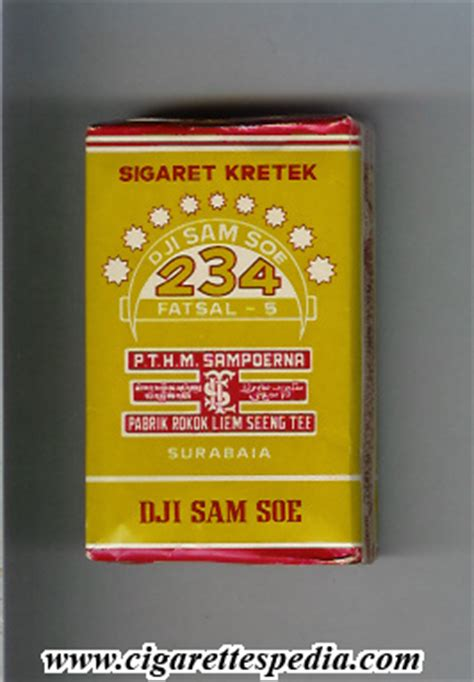 Dji Sam Soe Cigarettes 234 dji sam soe fatsal 5 ks 12 s indonesia