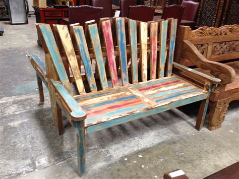 adirondack benches rustic and antique wood benches san diego reclaimed wood