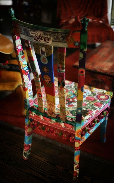 Decoupage A Chair - fabric decoupage chair muebles pintados y decoupage