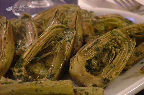 cucinare carciofi ricetta carciofi in padella le ricette dello spicchio