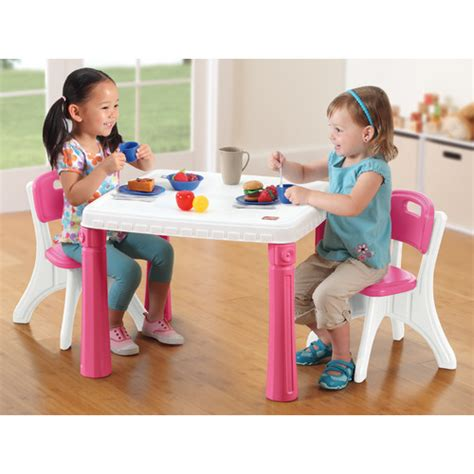 Step 2 Lifestyle Kitchen Table And Chairs Step2 Lifestyle Kitchen Table And Chair Set Reviews Wayfair