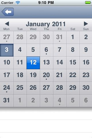 Calendar Api Ios Instead Of Date Picker Is There Any Third Api