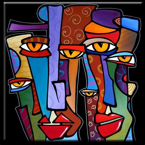 abstract the art of design faces1186 3030 original abstract art painting pop design