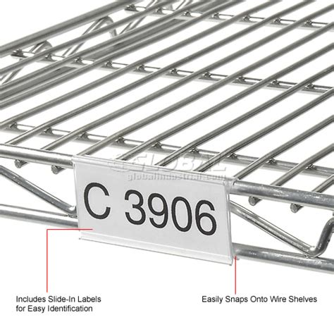 Wire Rack Label Holder by Wire Shelving Accessories Components Clear Label