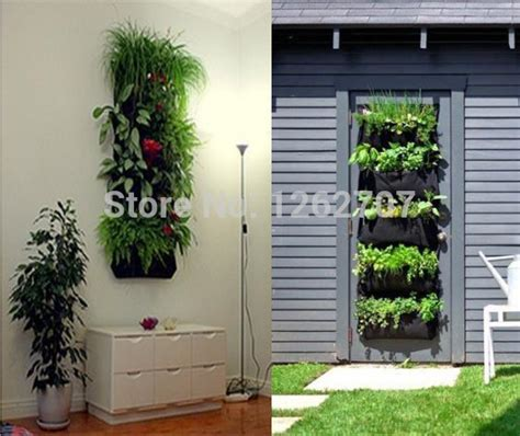 Wall Mounted Strawberry Planter by 4 Pocket Hanging Vertical Garden Wall Planter For Herbs