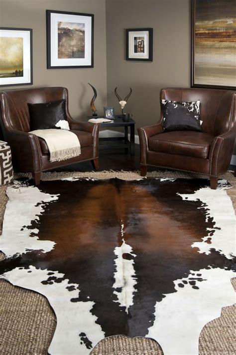 Cowhide Rug Living Room Ideas - interior decor ideas area rugs cowhide rug decor living