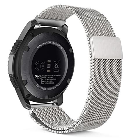 Milanese Samsung Gear S3 Classic Frontier Stainless Steel Band gear s3 band moko milanese loop stainless steel mesh import it all