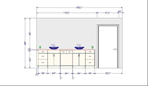 average height of a bathroom vanity 185 b