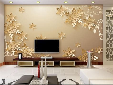 beautiful wallpaper design for home decor golden snowflakes 3d room wallpaper beautiful bedroom