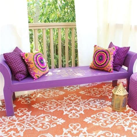 bohemian bench boho bench makeover 183 how to make a bench 183 decorating on
