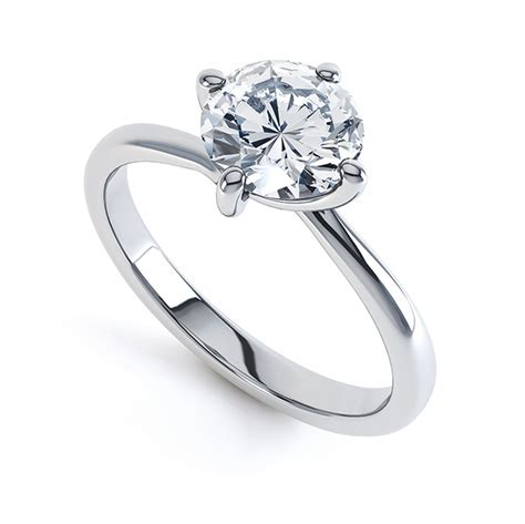 4 claw twist engagement ring