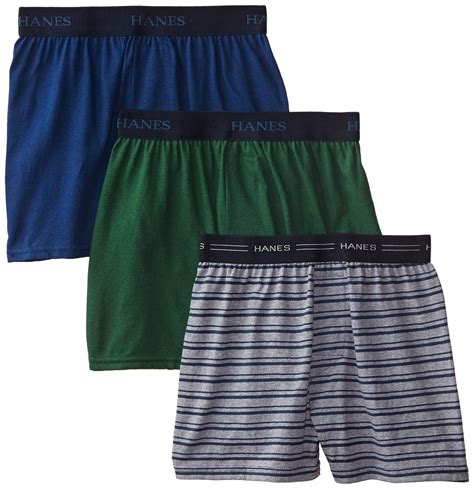 hanes knit boxers hanes boys 3 pack ultimate comfort flex solid knit boxer