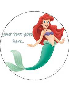 Personalised edible icing cake topper decoration 7 5 ariel