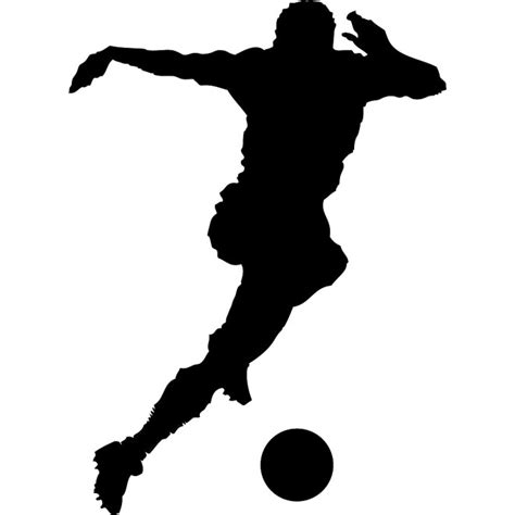 football ball silhouette vector soccer player silhouette vector download at vectorportal