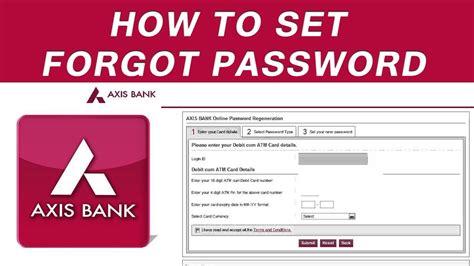 how to reset my fednet bank online password simple steps how to reset password internet banking axis bank