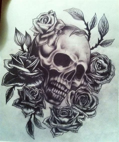 sugar skull and roses tattoo sugar skull image detail for sugar skull and roses
