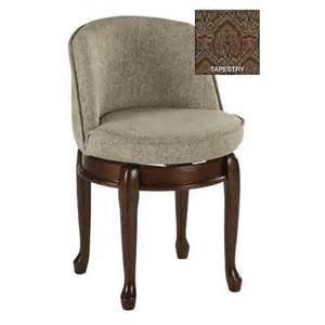 swivel vanity chair with back home decorators collection delmar tapestry high back