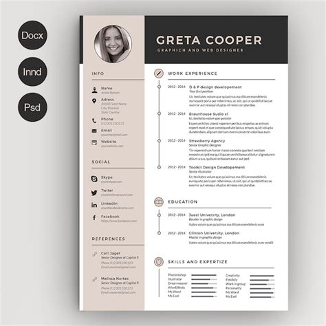 creative resume template microsoft word creative r 233 sum 233 templates that you may find to