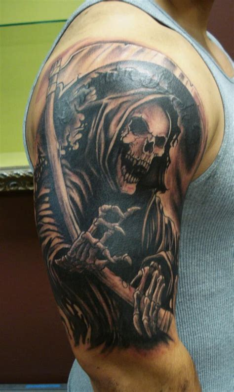 tattoo fixers grim reaper an old school choice the death grim reaper tattoo is a