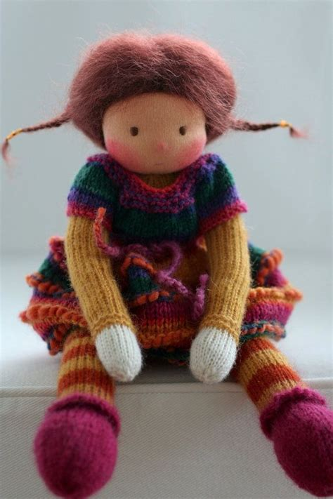 knitted waldorf doll pattern waldorf knitted doll korina 13 quot by peperuda dolls dolls