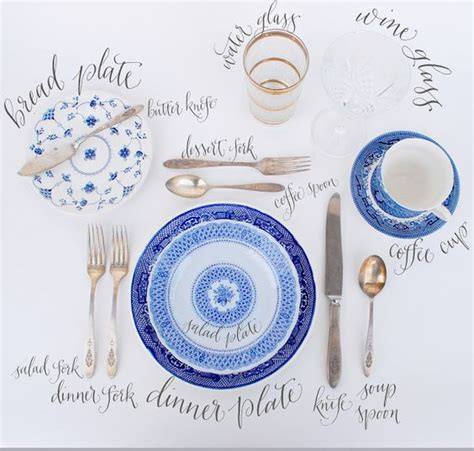 table setting chart the perfect table setting beautiful calligraphy and