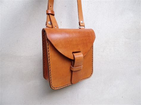 Best Handmade Leather Bags - leather crossbody bag small handmade leather bag with