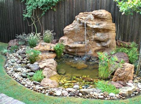 Garden Pond Kits - large rock pond backyard waterfall landscaping kits