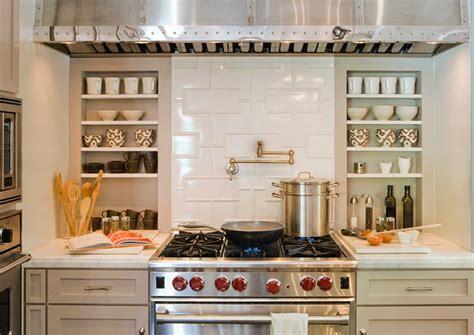 Kitchen Backsplash Niche Walker Zanger Fretwork Pattern Decorative Field Tiles