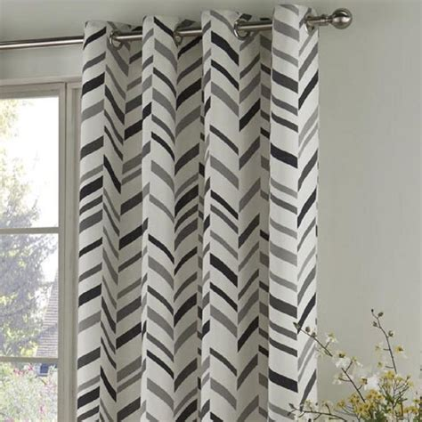 black and cream chevron curtains black grey chevron geometric curtains tony s