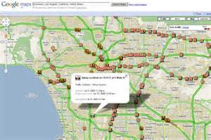Sigalert Los Angeles Traffic Map by Real Time Traffic Los Angeles Map