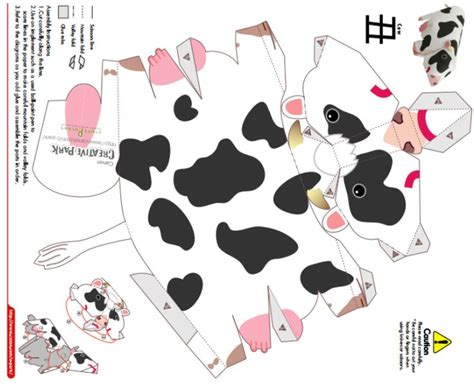 Cow Papercraft - 37 best images about paper craft templates on