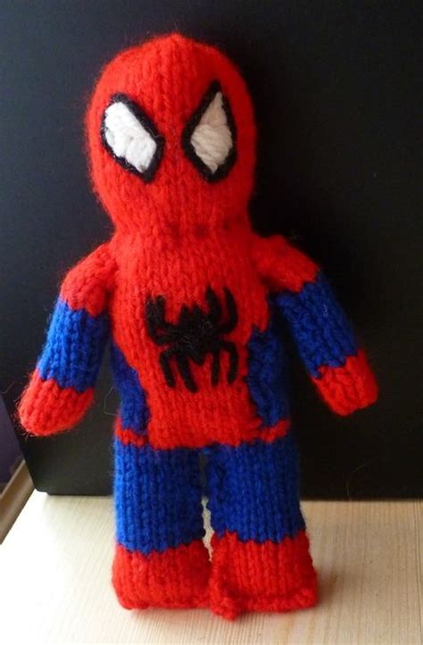 spiderman plush pattern free spiderman knitting pattern knitting pinterest
