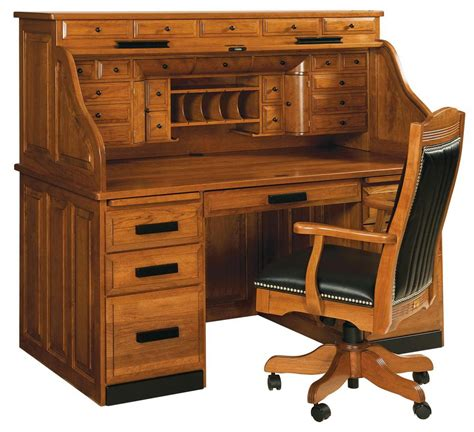 Roll Top Desks For Home Office Classic Deluxe Roll Top Desk Amish Furniture Store Mankato Mn