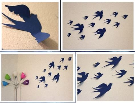Silhoette Cameo Bekas birds 3d wall decor 3d wall nursery bird wall