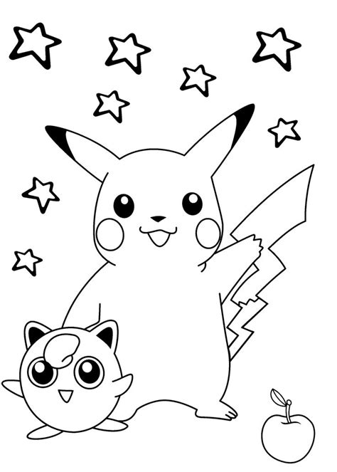 coloring pages pikachu and friends pokemon coloring pages pikachu and friends gianfreda net