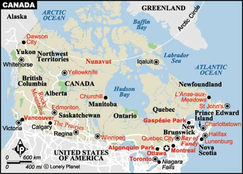 canadian map facts facts for canada