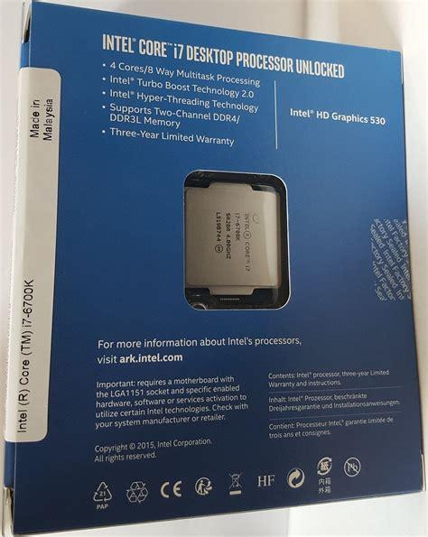 Intel I7 6700 Box intel skylake i7 6700k and i5 6600k being sold