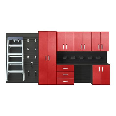 Flow Wall Modular Wall Mounted Garage Cabinet Storage Set With Garagestoragesystems Net Flow Wall Modular Wall Mounted Garage Cabinet Storage Set With Workstation And Accessories In
