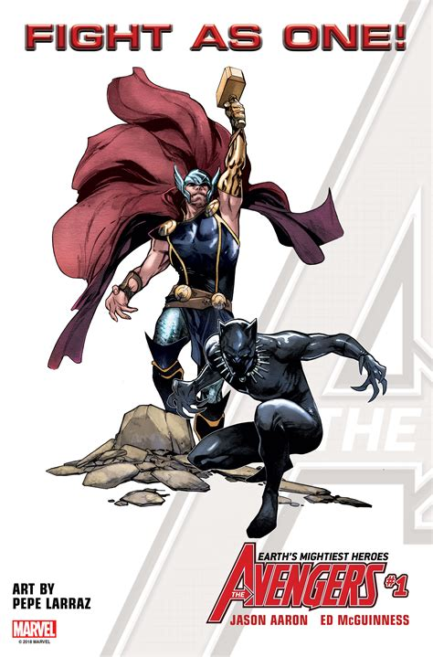 marvel reveals black panther captain marvel inhumans avengers marvel reveals new avengers 1 cover featuring thor and