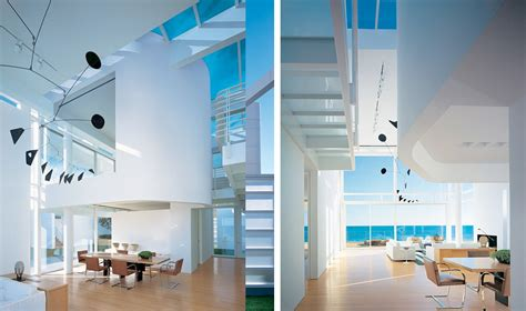 white beach house interiors modern beach house with white exterior paint by richard meier digsdigs