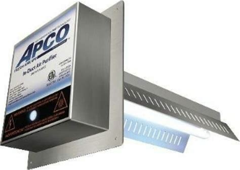 fresh aire apco tuv apco   duct air purifier  yr