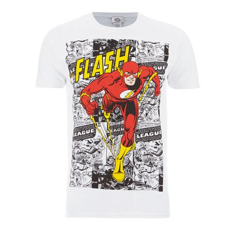 Tshirts Dc 1 dc comics s the flash comic t shirt white